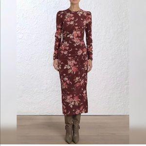 Zimmermann Unbridled Draped Printed Dress